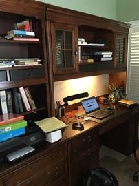 Desk with cabinet - lighted