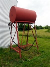 500 Gallon Out Door Fuel Tank, Hose Needs Replaced, Aprox 12' H