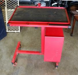 "Torin Rolling Work Station, 34""H x 29""W x 20.5""D, Includes Lockable Cabinet With Key"