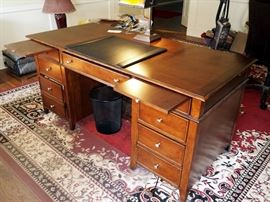 "Hooker Seven Drawer Solid Wood Desk, 31""H x 66""W x 30""D"
