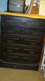 BEAUTIFUL ANTIQUE CHEST NEEDS A LITTLE TLC
