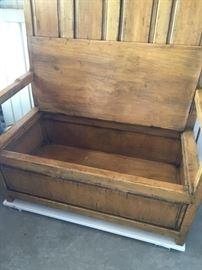 Antique storage bench (storage beneath)