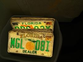 Old license plates $3.00 or 2 for $5.00