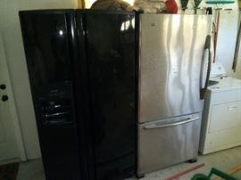 2 full size fridges  Black one $300 Stainless steel $350