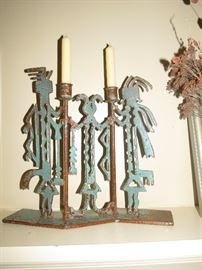 KOKOPELLI CANDLESTICKS.