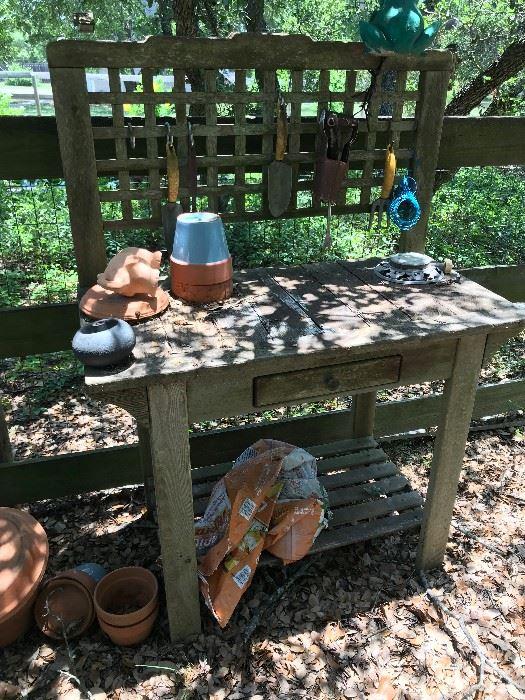 Outdoor Gardening Table