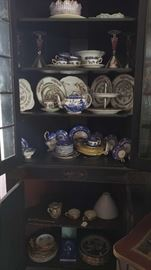 5 Shelves of Assorted China and Glassware