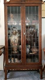 Aw-lyn Wood Cabinet with Glass Windows