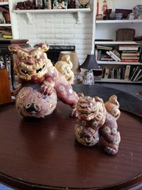 Vintage Ceramic Guardian Foo Dogs Lions