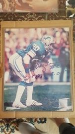 Billy Sims Detroit Lions autograph with COA