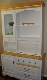 WONDERFUL CABINET WITH A SWEET ROLL TOP STORAGE AREA.