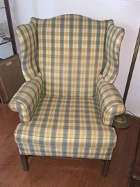 Hickory Chair pair of wingback chairs