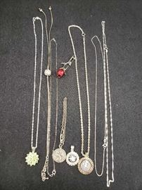 Silver Necklaces and Pendants