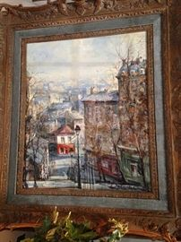 Lovely framed art by the French artist Lucien Delarue