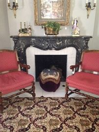 Matching fireside upholstered chairs