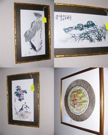 Japanese Water colors and Silk Embrodery