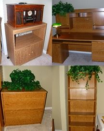 Office furniture, vintage look radio/cassette/record player