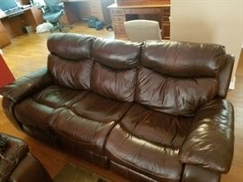 Stetson leather electric reclining sofa