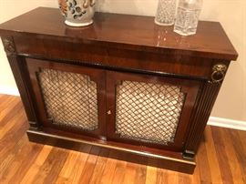 "Kittenger buffet with brass lions head drawer pull 44"" W x 17 x 32H  BUY IT NOW $200"