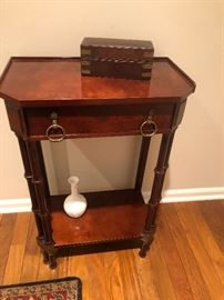 """Bombay furniture side table with drawer 21W x 11 D x 29"""" H BUY IT NOW $60"""