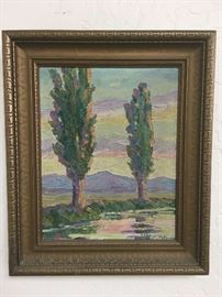 Original plein air oil painting.