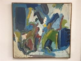 Early 1960's Modernist Oil Painting from a San Francisco Artist.
