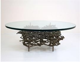 Vintage Brutalist Coffee Table by Daniel Gluck