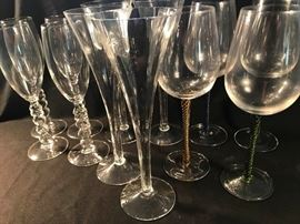 Decorative stemware