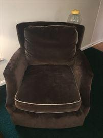 Brown Velvet Chair!