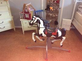 Vintage Blaze, The Galloping Wonder Rocking Horse by Mattel 1961!!