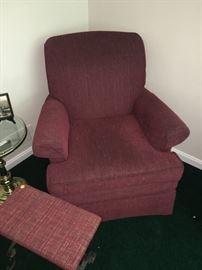 Flex Steel Chair & Matching Stool!