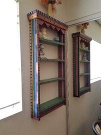 Very cute painted display shelf