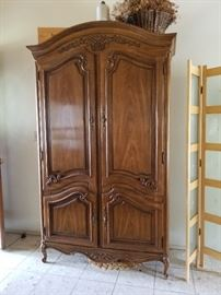 Beautiful French Provincial armoire with storage and lingerie drawers inside