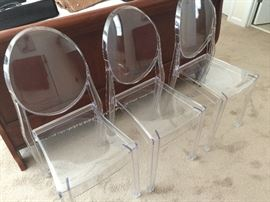 Lucite Oval Back Dining Chairs - we have 6!