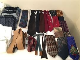 Plenty of men's accessories, cool old and new ties