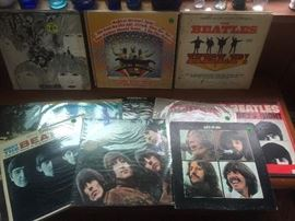 Beatles Records:  Help!  Rubber Soul, Meet the Beatles, Magical Mystery Tour, Let It Be, Revolver, a Sgt. Pepper's Picture Disc...
