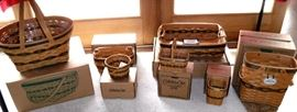 Large Longaberger collection - some still in boxes - all in great condition