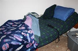 Adjustable hospital bed w/rails