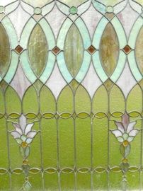 ANOTHER GREAT ANTIQUE LEADED GLASS WINDOW