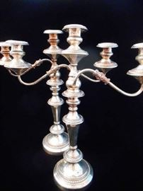 SILVER PLATED CANDLESTICKS