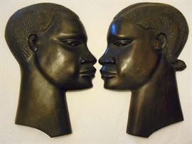 CARVED EBONY HEADS