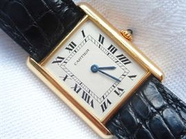 18K GOLD CARTIER WATCH