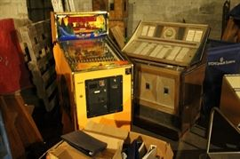 Video Pinball game $50 / Jukebox empty $50
