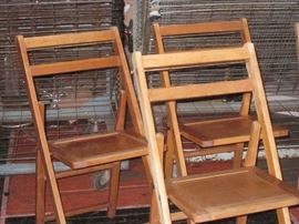1940's Wood Folding Chairs $25 each