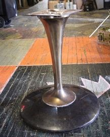 Mid Century Brass lucite see-through table base $80