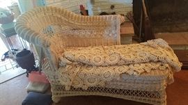 Antique Wicker Lounger