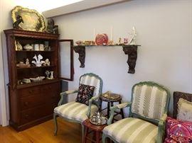 Antiques, Milk Glass Epergne, decor