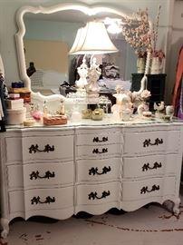 Dresser with mirror, MCM decor