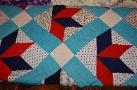 One of Many Beautiful Hand Made Antique/Vintage Quilts in this Estate