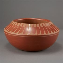 Lot #8 - Blue Corn Redware San Ildefonso Pottery with a Starting Bid of $500